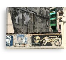 Street Art in Old Havana Cuba Canvas Print