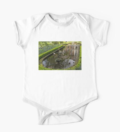 Hidden Tranquility - Beautifully Landscaped Garden with a Fountain One Piece - Short Sleeve