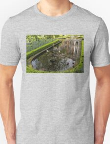 Hidden Tranquility - Beautifully Landscaped Garden with a Fountain Unisex T-Shirt