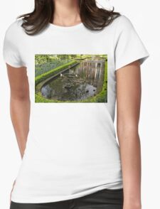 Hidden Tranquility - Beautifully Landscaped Garden with a Fountain Womens Fitted T-Shirt