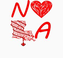I heart NOLA (Red) Womens Fitted T-Shirt
