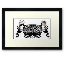 Back to Back Full Season Champions - Cartoon Framed Print