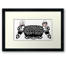 Back to Back Full Season Champions - Cartoon Framed Print