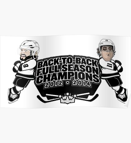 Back to Back Full Season Champions - Cartoon Poster