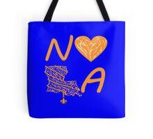 I heart NOLA (Orange) Tote Bag