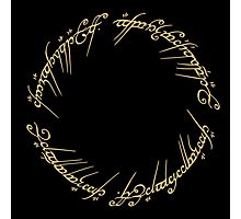 LOTR-Ring Inscription Photographic Print