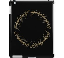 LOTR - Ring Inscription iPad Case/Skin