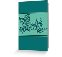 Abstract love Greeting Card