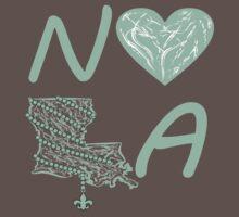 I heart NOLA (Mint Green) One Piece - Short Sleeve