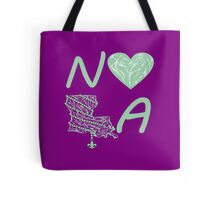 I heart NOLA (Mint Green) Tote Bag