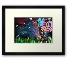 Intergalactic Giraffe Framed Print