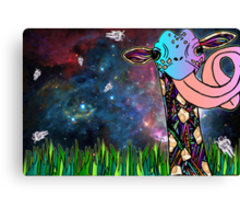 Intergalactic Giraffe Canvas Print