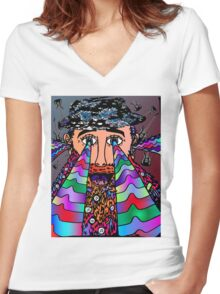 Wise Man of Music Women's Fitted V-Neck T-Shirt