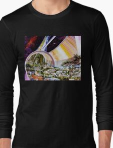 Space Colony Sci Fi Long Sleeve T-Shirt