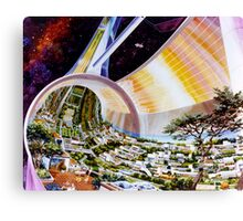 Space Colony Sci Fi Canvas Print