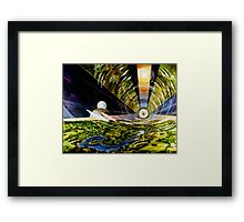 Space Colony, Cylinder Framed Print
