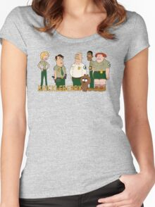 Brickleberry - the gang Women's Fitted Scoop T-Shirt