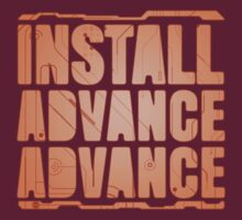 Install, Advance, Advance T-Shirt