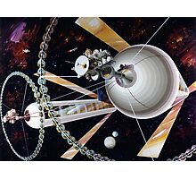 Space Exploration, Space Colony Photographic Print