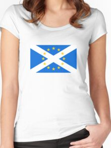 Scotland in EU Women's Fitted Scoop T-Shirt