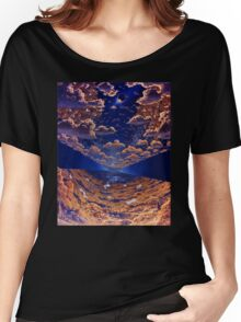 Space Colony Sunset Women's Relaxed Fit T-Shirt