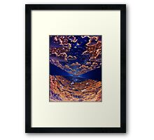 Space Colony Sunset Framed Print