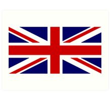 Union Jack, British Flag, UK, United Kingdom, Pure & simple 1:2 Art Print