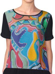Colorful Swirls Chiffon Top