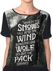 A Game of Thrones Chiffon Top