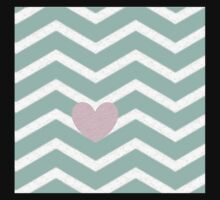 Blue chevron with distressed pink heart  Baby Tee