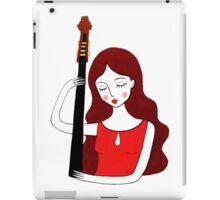 bass girl iPad Case/Skin