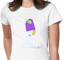 astronaut in rocketship Womens Fitted T-Shirt