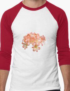 Peach Coloured Lilium Flowers Men's Baseball ¾ T-Shirt