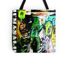 Humans VS Aliens Graffitti Logo Tote Bag