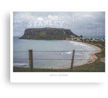 Stanley, Tasmania. Tourism Typography Canvas Print