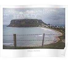 Stanley, Tasmania. Tourism Typography Poster