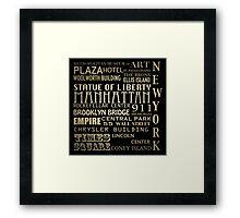 New York Famous Landmarks Framed Print