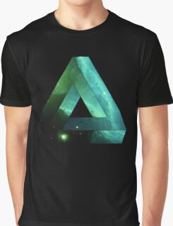 Abstract Geometry: Penrose Nebula (Ethereal Blue/Green) Graphic T-Shirt