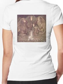 TROLL, Fairy Tales, Swedish, Sweden, John Bauer, Trolls, and a Princess,  Women's Fitted V-Neck T-Shirt
