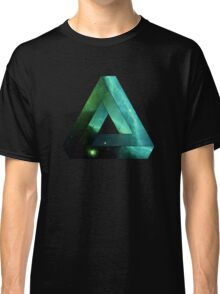 Abstract Geometry: Penrose Nebula (Ethereal Blue/Green) Classic T-Shirt
