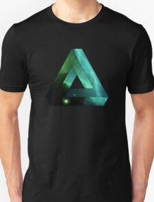 Abstract Geometry: Penrose Nebula (Ethereal Blue/Green) Unisex T-Shirt