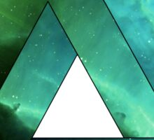 Abstract Geometry: Penrose Nebula (Ethereal Blue/Green) Sticker