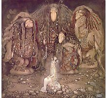 TROLL, Fairy Tales, Swedish, Sweden, John Bauer, Trolls, and a Princess,  Photographic Print