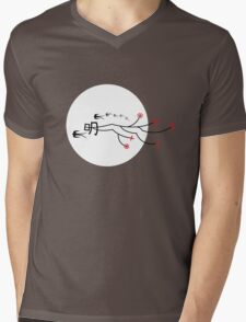 Oriental Swallows And The Bright Round Moon Mens V-Neck T-Shirt