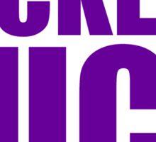 Minnesota Vikings - PACKERS SUCK - Purple Text Sticker