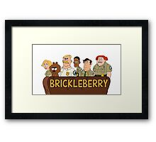 Brickleberry - The Gang Framed Print