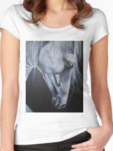 white spirit Women's Fitted Scoop T-Shirt