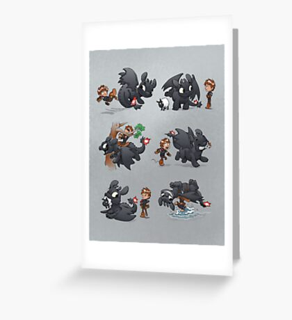How Not to Train Your Dragon Greeting Card