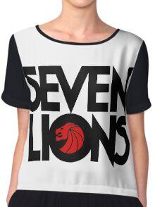 se7 Lion Chiffon Top