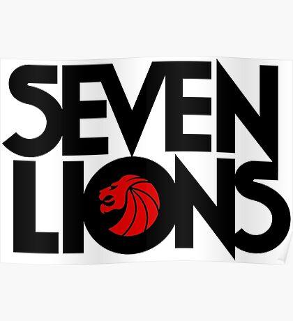 se7 Lion Poster